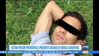 Dictan prisión preventiva al presunto asesino de modelo argentina