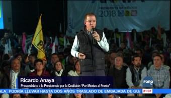 Ricardo Anaya culpa a Meade de gasolinazos
