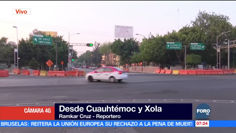 Reducen carriles sobre avenida Cuauhtémoc por obras