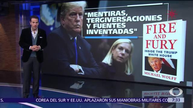 Reacciones por el libro sobre el presidente Donald Trump