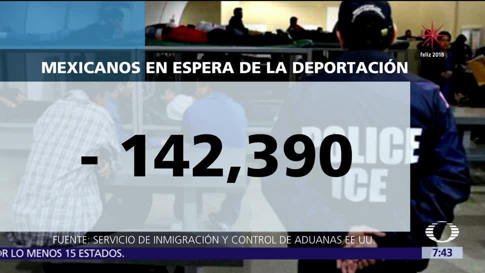 Más de 142 mil mexicanos esperan deportación desde Estados Unidos