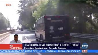 Cruza Tres Marías vehículo que transporta a Roberto Borge