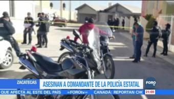 Asesinan a comandante de la Policía en Zacatecas