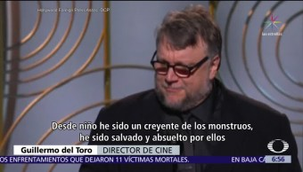 Guillermo del Toro gana Globo de Oro por 'La forma del agua'