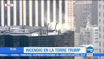 Controlan incendio en la Torre Trump en Nueva York