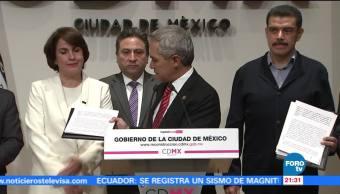 Siete partidos políticos firman 'Pacto de Civilidad' en la CDMX