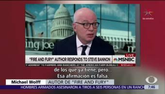 Bannon sí arremetió contra Trump Jr, dice autor de 'Fuego y Furia'