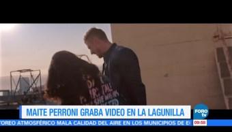 #LoEspectaculardeME: Maite Perroni graba video en La Lagunilla