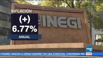 Inflación Anual 6.77% Diciembre Reporta Inegi