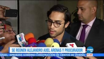 Alejandro Axel se reúne con el procurador de la CDMX