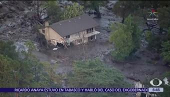 Suman 13 muertos por deslaves en California