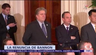 Steve Bannon sale de Breitbart News tras ruptura con Trump