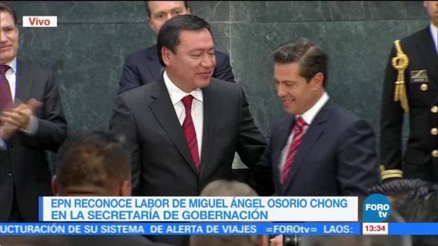 Peña Nieto reconoce labor de Osorio Chong al frente de la Segob