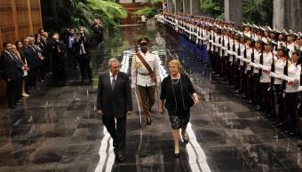 bachelet castro sostienen reunion bilateral la habana