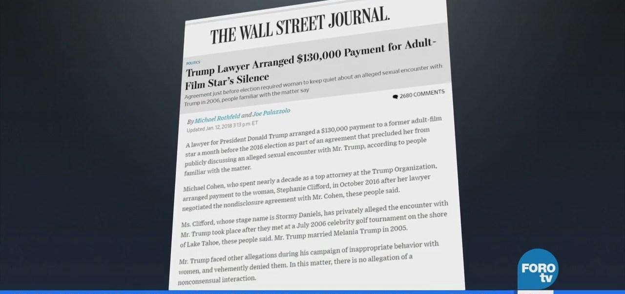 Abogado de Trump pagó a una actriz porno por su silencio