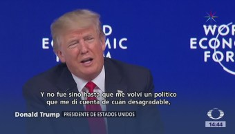 Abuchean Trump Criticar Prensa Foro Davos