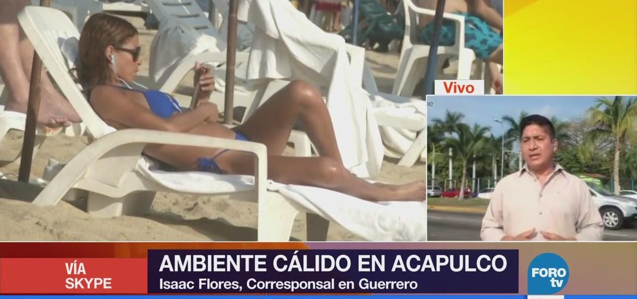 Acapulco registra un ambiente cálido este fin de semana
