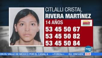 Activan Alerta Amber Localizar Citlalli Cristal Rivera Martínez