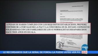 Ángel Aguirre retira solicitud como precandidato a diputado federal