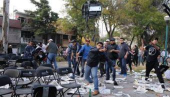 realizan audiencia de dos agresores en mitin de morena en coyoacan