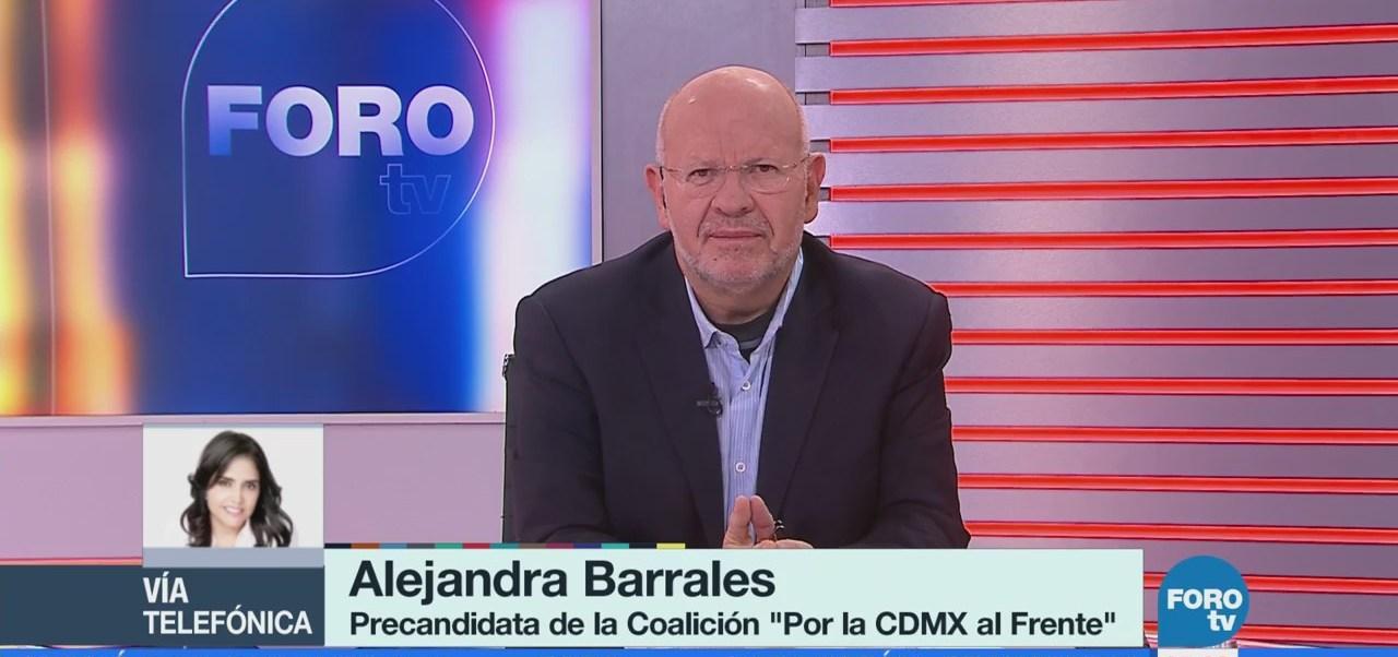 Alejandra Barrales: 'Sondeos confirman que soy la aspirante más conocida'