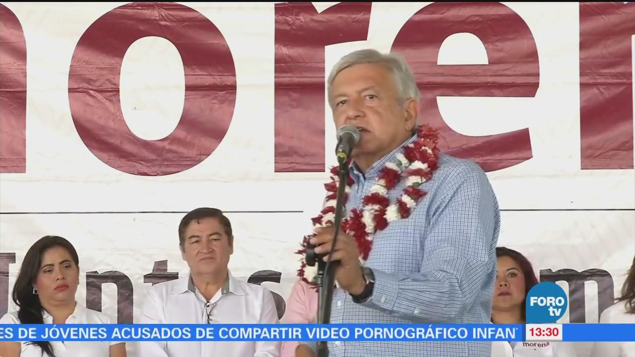 AMLO sostiene encuentro con simpatizantes en Veracruz