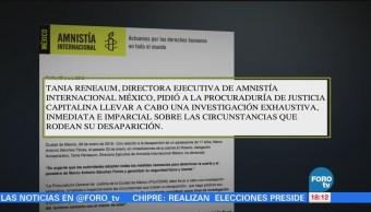 Amnistía Internacional Exige Investigar Desaparición Marco Antonio Sánchez