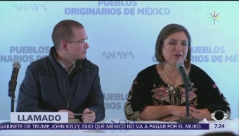 Anaya anuncia colaboración de Xóchitl Gálvez por agenda de pueblos originarios