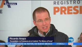Anaya se registra como precandidato por MC