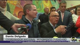 Anaya se registra oficialmente como precandidato presidencial de Movimiento Ciudadano