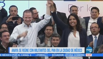 Anaya se reúne con militantes del PAN en la CDMX