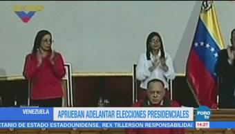 Aprueban adelantar elecciones en Venezuela