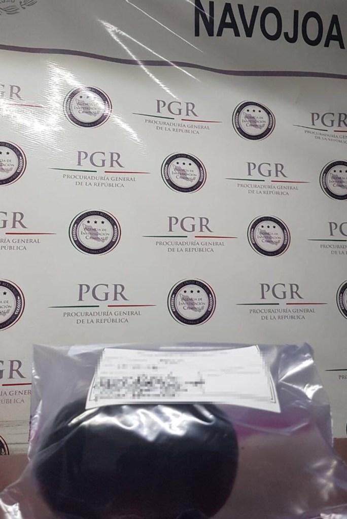 Asegura PGR un kilo de heroína en autobús de pasajeros en Huatabampo