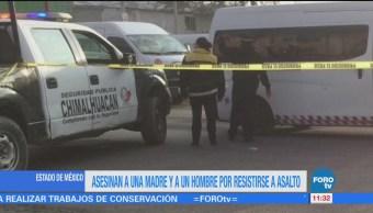 Asesinan Dos Personas Estado México