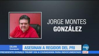 Asesinan a regidor del PRI en Celaya