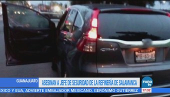 Asesinan al jefe de seguridad de refinería de Salamanca