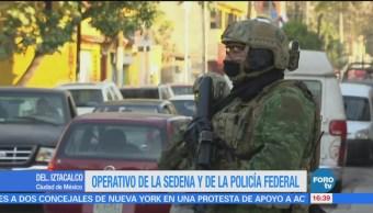 Así fue el operativo de la Sedena y la Policía Federal en Iztacalco