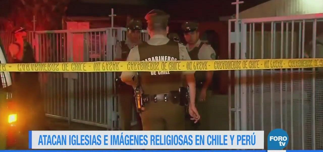Atacan iglesias e imágenes religiosas en Chile y Perú