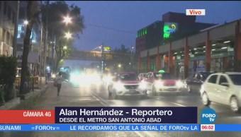 Aumenta carga vehicular sobre Tlalpan, a la altura de San Antonio Abad