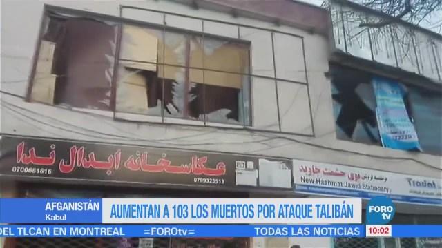Aumentan a 103 los muertos por ataque en Afganistán