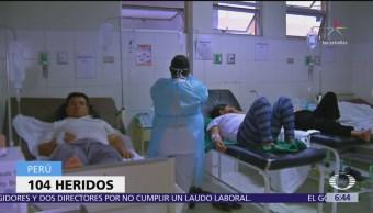 Aumentan heridos por sismo en Perú