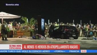 Autoridades brasileñas investigan atropellamiento en Copacabana
