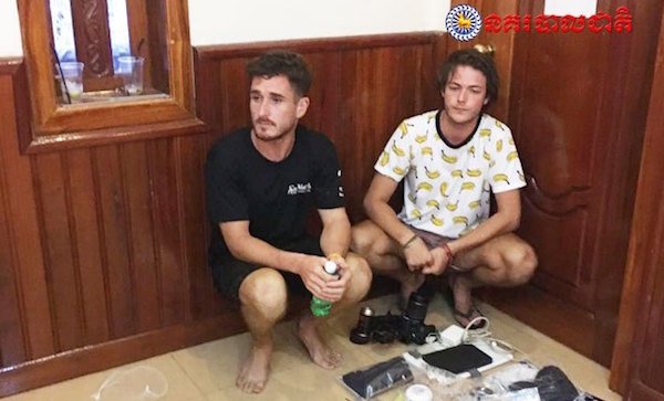 """Turistas arrestados por 'bailar de forma pornográfica"""" en Camboya."""