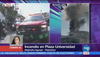 Bomberos Trabajan Controlar Incendio Plaza Universidad