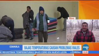 Cae hielo en Coahuila por frente frío