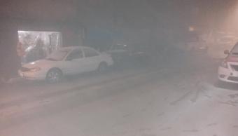 Cae nieve en Cuajimalpa y aguanieve en Tlalpan, sur de la CDMX