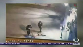 Cámara de seguridad capta rescate de hombre que sería linchado en Milpa Alta