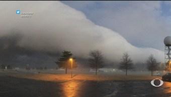 Captan nubes escudo en Oklahoma en EU
