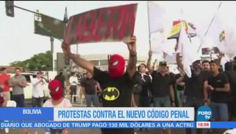 Protestan Contra Evo Morales Bolivia