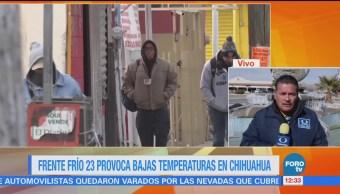 Chihuahua se mantiene con temperaturas bajo cero